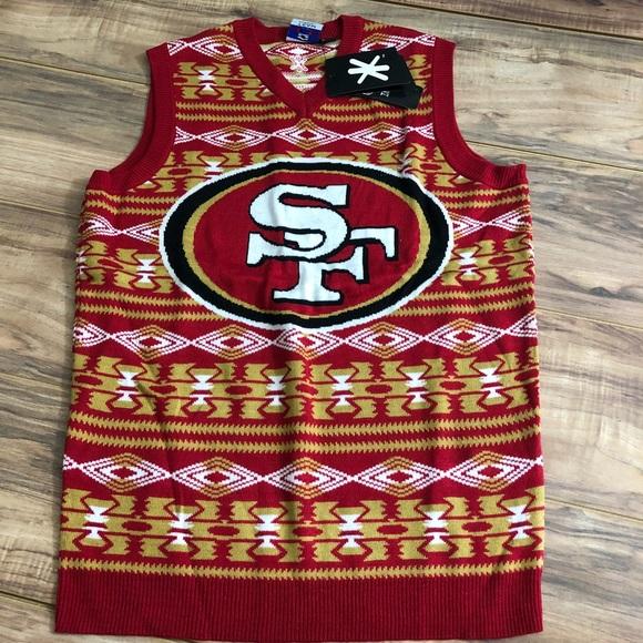 93b26c06a SF 49ers Ugly Sweater Vest Aztec Print 49ers